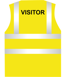 Hi Visibility Visitor Vest