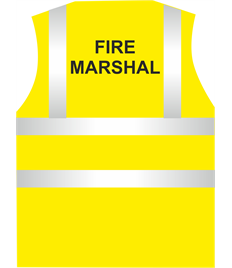 Hi Visibility Fire Marshal Vest